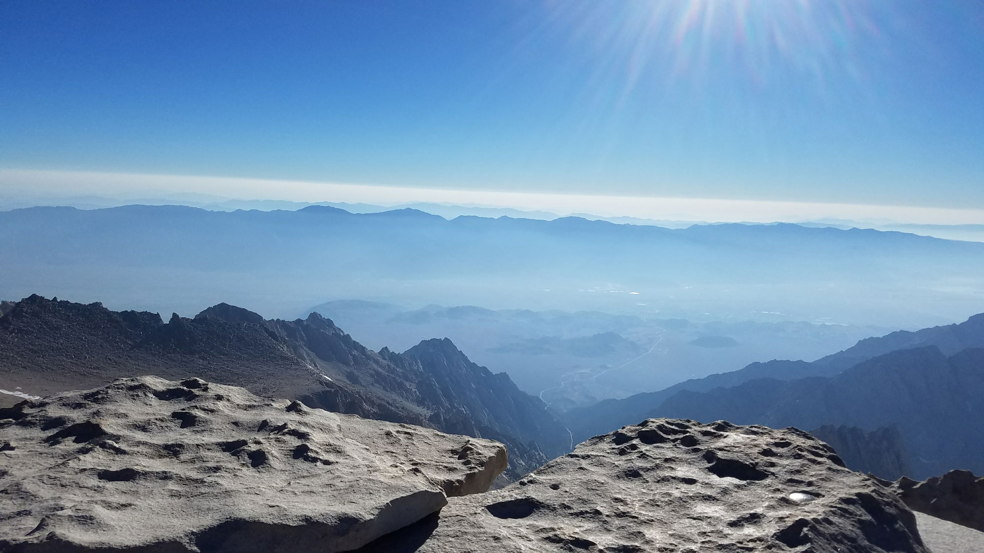 View from summit of Mt. Whitney